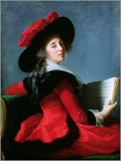 Wall sticker  The Baroness de Crussol - Elisabeth Louise Vigee-Lebrun