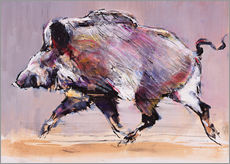 Wall sticker Running boar