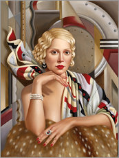 Wall sticker  The woman in silk - Catherine Abel