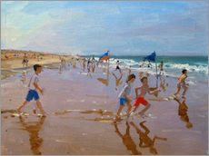 Gallery print  Flags and reflections, Montalivet - Andrew Macara