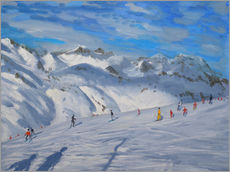Wall sticker  Mountain Tops, Tignes - Andrew Macara