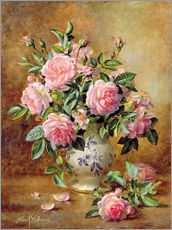 Gallery print  A Medley of Pink Roses - Albert Williams