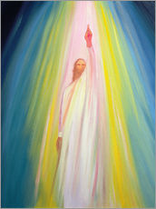 Gallery print  Jesus Christ shows us the way to God the Father, 1995 - Elizabeth Wang