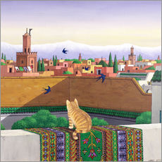 Wall sticker  Rooftops in Marrakech - Larry Smart