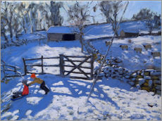 Wall sticker  Farm at Elton, near Rowsley - Andrew Macara