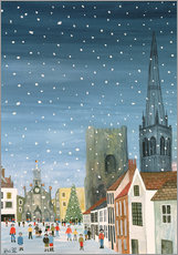 Gallery print  Chichester Cathedral, A Snow Scene - Judy Joel