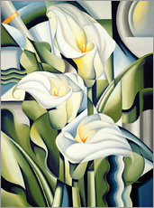 Wall Stickers  Cubist lilies - Catherine Abel