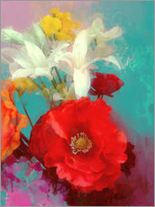 Gallery print  Poppy and Friends - Alyzen Moonshadow