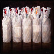 Gallery Print  Wrapped Wine Bottles - Lincoln Seligman