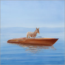 Gallery print  Donkey in a boat - Lincoln Seligman