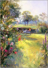 Gallery Print  Reading in the Garden - Timothy Easton
