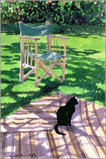 Gallery print  Black Cat and Dappling - Lucy Willis