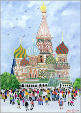 Wall sticker St. Basil's Cathedral, Red Square, 1995