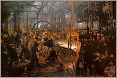 Gallery print  The Iron-Rolling Mill - Adolph von Menzel