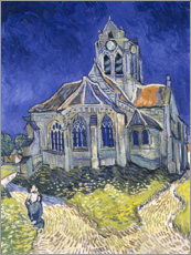Wood print  The Church at Auvers-sur-Oise - Vincent van Gogh