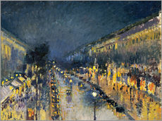 Wall sticker  Montmartre Boulevard at night 1897 - Camille Pissarro
