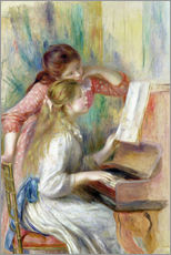 Wall Sticker  Young Girls at the Piano - Pierre-Auguste Renoir