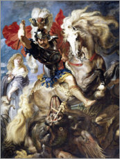 Premium poster  St. George and the Dragon - Peter Paul Rubens