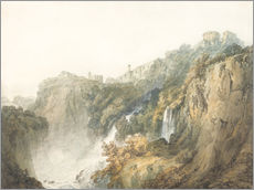 Wall sticker  Tivoli with the Temple of the Sibyl and the Cascades - Joseph Mallord William Turner