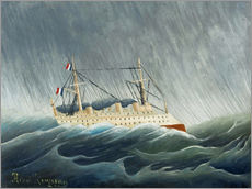 Gallery print  The storm-throwing ship - Henri Rousseau