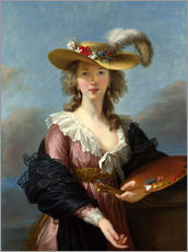 Gallery print  Louise Elisabeth Le Brun with straw hat - Louise Elisabeth Le Brun