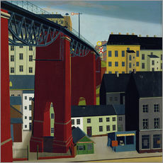 Gallery print  Bridge over the Schwarzbachstraße in Wuppertal - Carl Grossberg