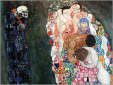 Foam board print  Death and life - Gustav Klimt