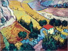 Wall sticker  Landscape with House and Ploughman - Vincent van Gogh