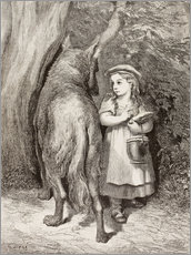Gallery print  Scene From Little Red Riding Hood By Charles Perrault - Gustave Doré