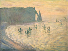 Gallery print  Cliffs at Etretat - Claude Monet