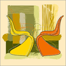Wall sticker  panton chair 01 - Thomas Marutschke