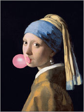 Wall sticker  The Girl with a Pearl Earring (gum)