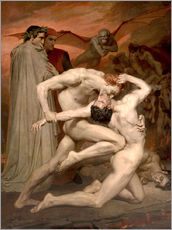 Wall sticker  Dante and Virgile - William Adolphe Bouguereau