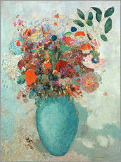 Wall sticker  Flowers in a Turquoise Vase - Odilon Redon