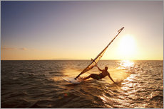 Gallery Print  Windsurfer in Hawaii - MakenaStockMedia