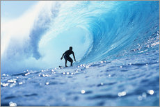 Gallery print  Surfer in the pipeline Barrel - Vince Cavataio