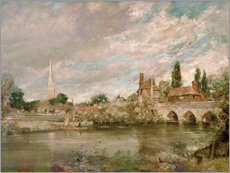Wall sticker  The Bridge of Harnham and Salisbury Cathedral - John Constable