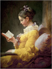 Gallery print  Young girl reading - Jean-Honoré Fragonard
