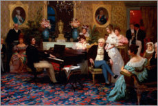 Gallery print  Chopin Playing the Piano in Prince Radziwill's Salon - Hendrik Siemiradzki