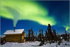 Wall sticker  Northern Lights over a hut - Kevin Smith