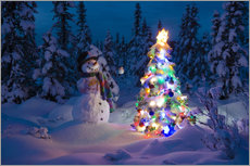 Wall sticker  Snowman in Winter Wonderland - Kevin Smith
