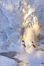 Wall Sticker  Snowman couple - Kevin Smith