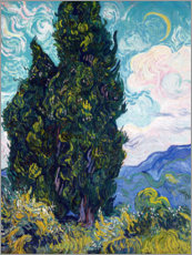Wall sticker  Cypresses - Vincent van Gogh