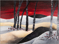 Gallery print  dramatic landscape with red sky - Tara Thelen