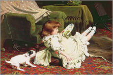 Wall sticker  Time to Play - Charles Burton Barber