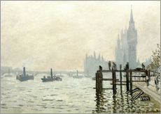 Gallery print  The Thames below Westminster - Claude Monet