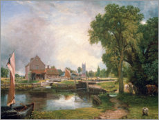 Wall sticker  Dedham Lock and Mill - John Constable