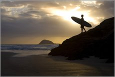Gallery print  Surfer on Muriwai Beach - Deddeda