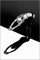 Gallery print  A woman jumps into the water II - Ben Welsh