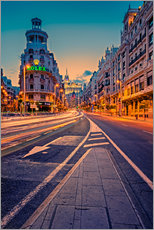 Wall sticker  Gran Via at night - Stefan Becker